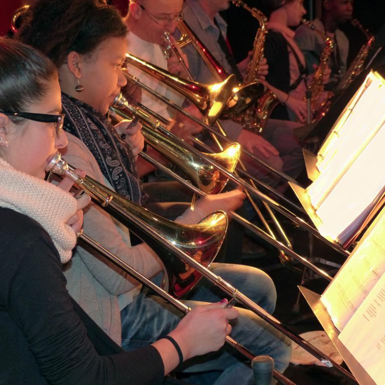 Les élèves CHAM trombone
