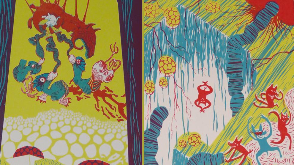 Diptyque 1 et 2, Atelier Bingo, sérigraphie PAN !, 2011