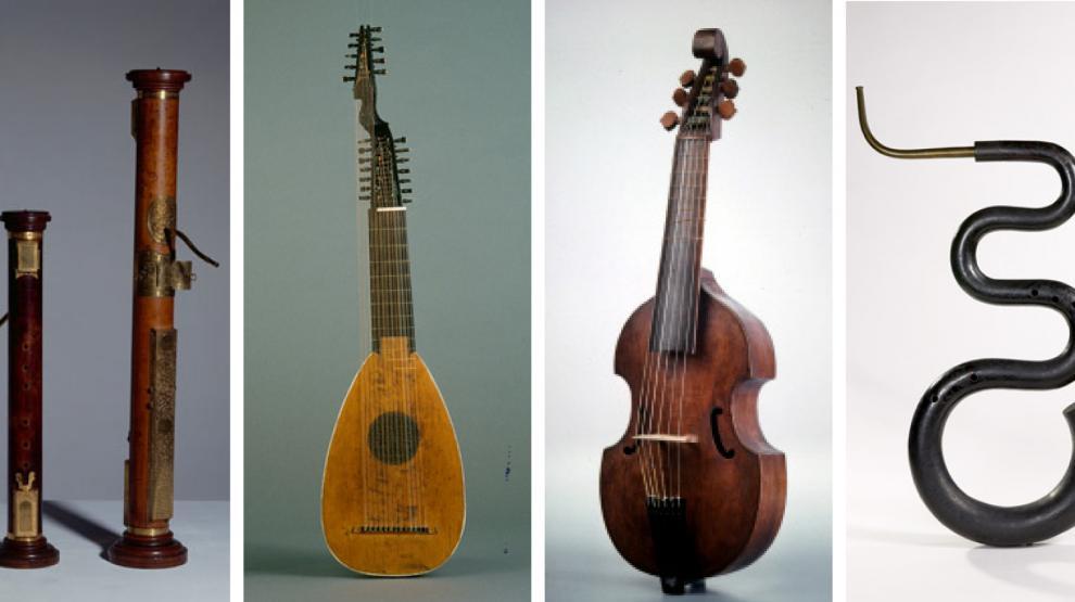 Différents instruments de musique anciens