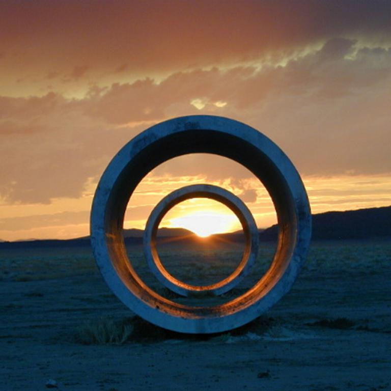Nancy Holt, Sun Tunnels, 1973, Great Basin Desert, Utah. Dia Art Foundation with support from Holt/ Smithson Foundation. © Holt/Smithson Foundation and Dia Art Foundation, VAGA at Artists Rights Society © ZCZ Films.