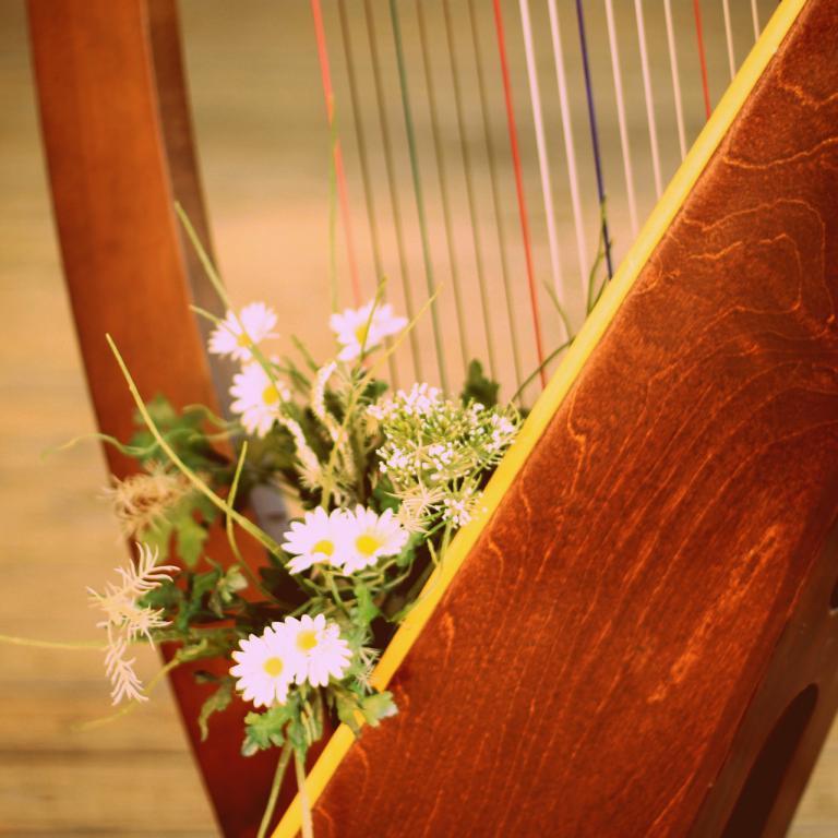 harpe fleurie
