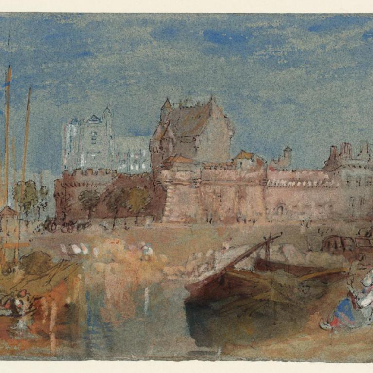 Turner-Château-et-cathédrale-de-Nantes-v.-1828-Londres-Tate
