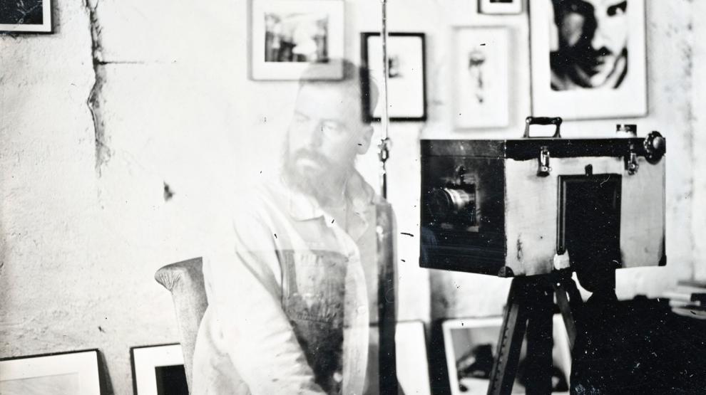 Emmanuel Ligner - Autoportrait au collodion - Galerie Albane
