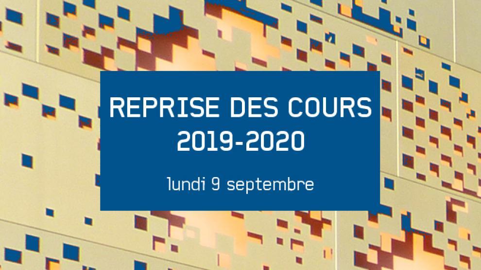 Reprise des cours 2019-2020